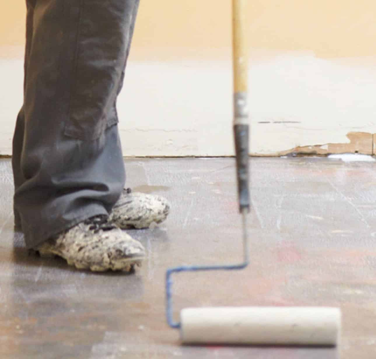 Floor primers and moisture mitigation systems. Primer for self leveling underlayment over concrete, wood, tile and other substrates. Epoxy moisture systems to block moisture vapor emission rate MVER through concrete floors.