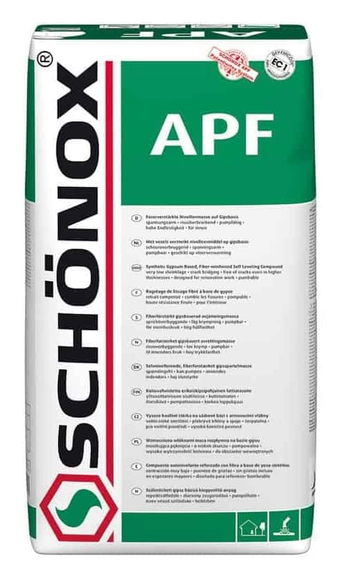 Schönox APF Fiber Reinforced Synthetic Gypsum Self Leveling System