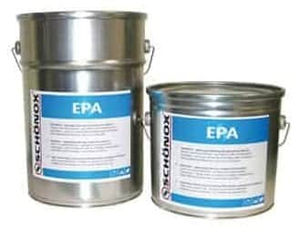 Schonox EPA moisture mitigating epoxy primer to reduce moisture vapor emission rates MVER in concrete prior to the installation of floor coverings and coatings.