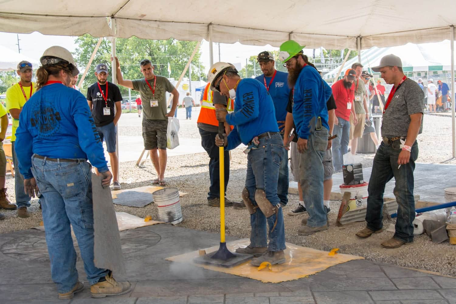 Stamped Concrete Training Class Charlotte NC May 2020