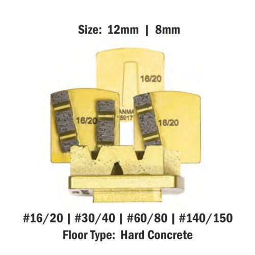 Scanmaskin 8 mm - 12mm Concrete Diamond Tool Gold Soft Bond Hard Concrete
