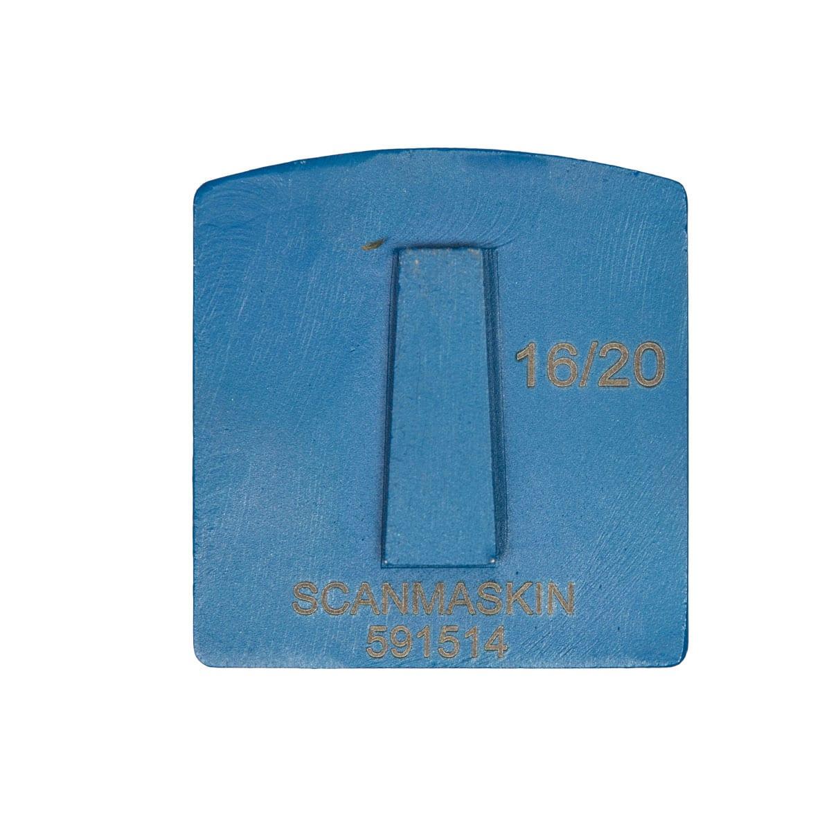 Back Medium Concrete Hardness 8 mm - 12mm Concrete Diamond Tool Blue Double #16/20 | #30/40 | #60/80 | #140/150 by Scanmaskin
