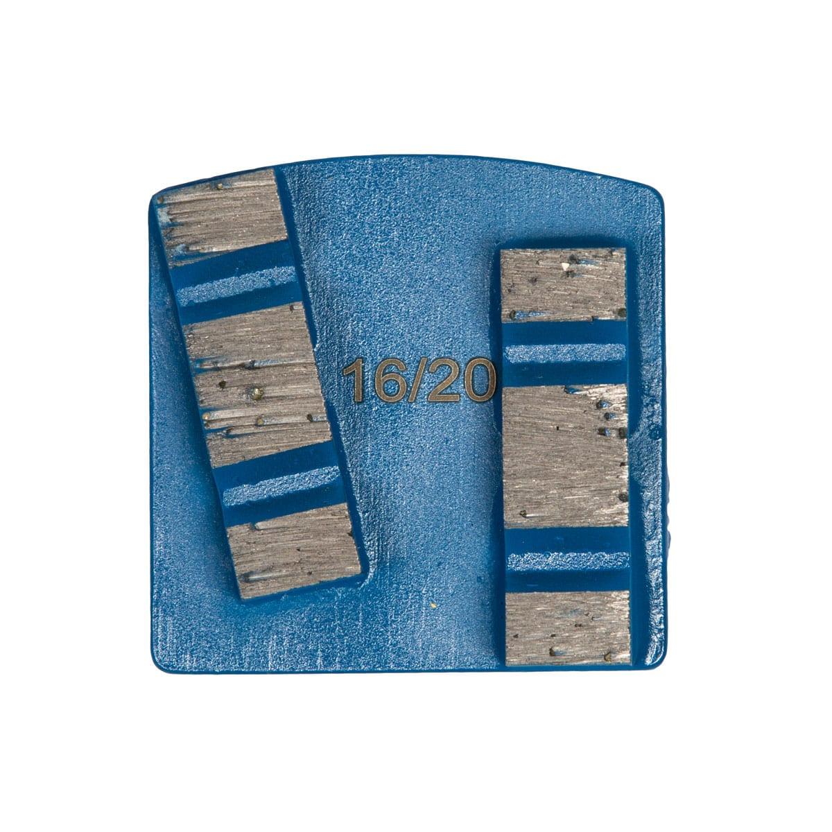 Front Medium Concrete Hardness 8 mm - 12mm Concrete Diamond Tool Blue Double #16/20 | #30/40 | #60/80 | #140/150 by Scanmaskin