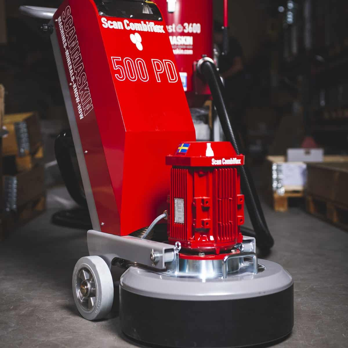 Front Scanmaskin ScanCombiflex 500 PD Concrete Grinder 230 Volt - Turning Point Supply North Carolina Dealer