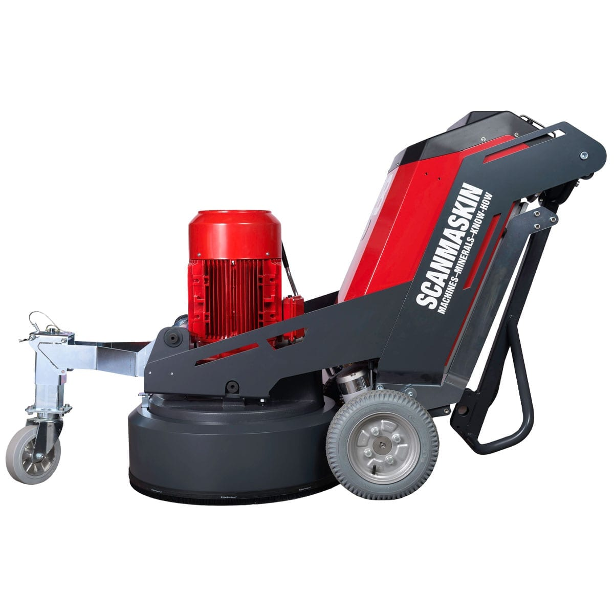 Left View Scanmaskin 28 World Series Concrete Grinder 230 and 400 Volt Turning Point Supply