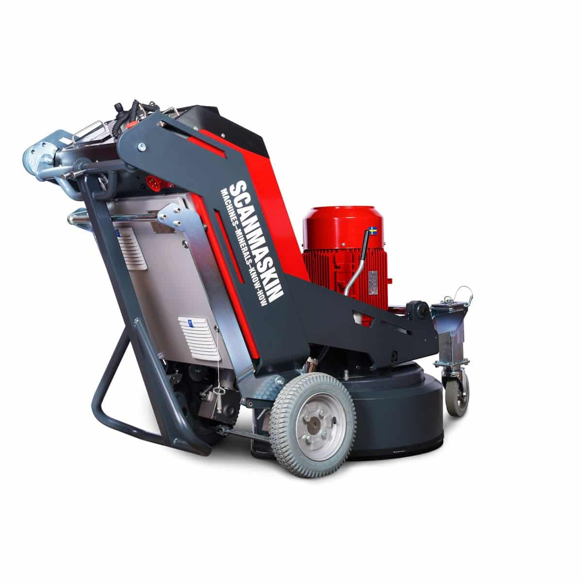 Right View Scanmaskin 28 World Series Concrete Grinder 230 and 400 Volt Turning Point Supply