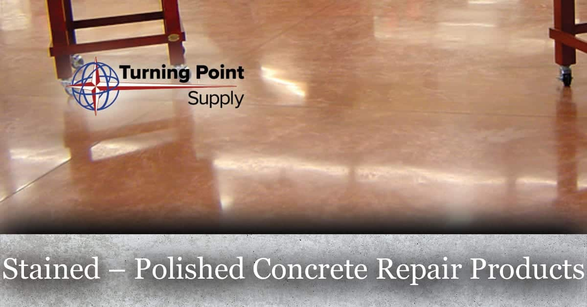 Stained Polished Concrete Floor Repair