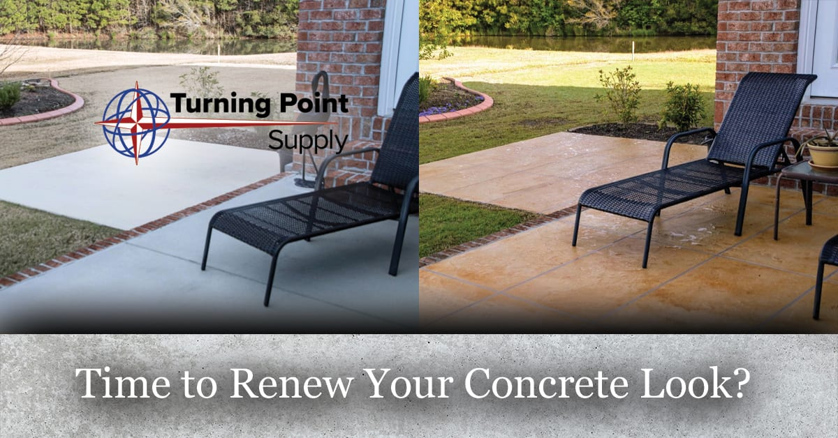 Products to Clean Coat Stain and Seal your old Concrete - Great New Look