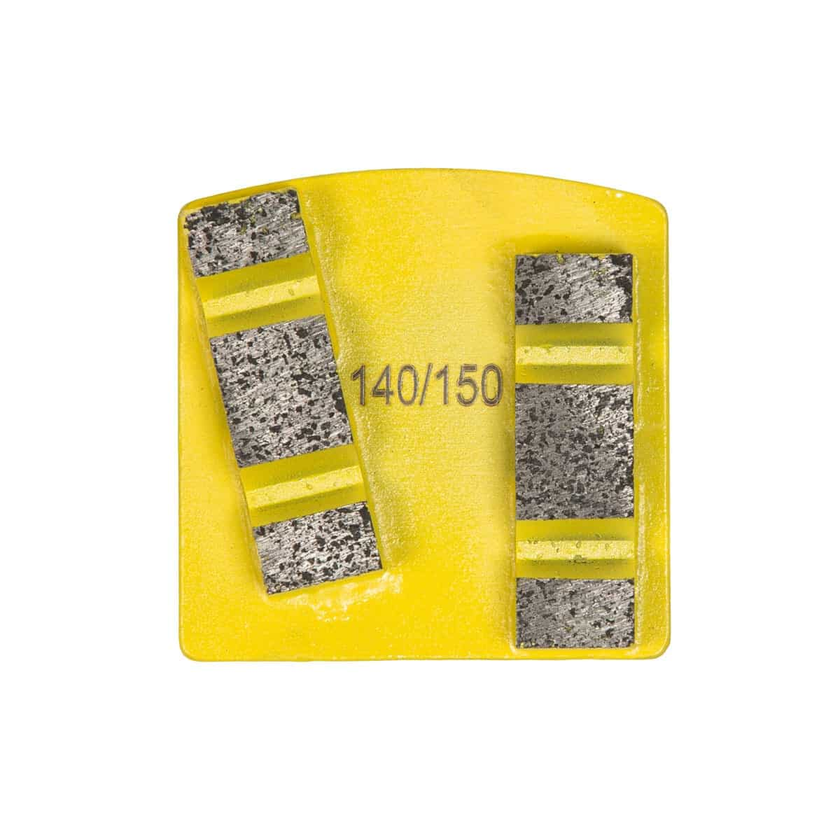 Scanmaskin World Series Diamond 12mm Double Yellow Super Soft Concrete Grinding Tool