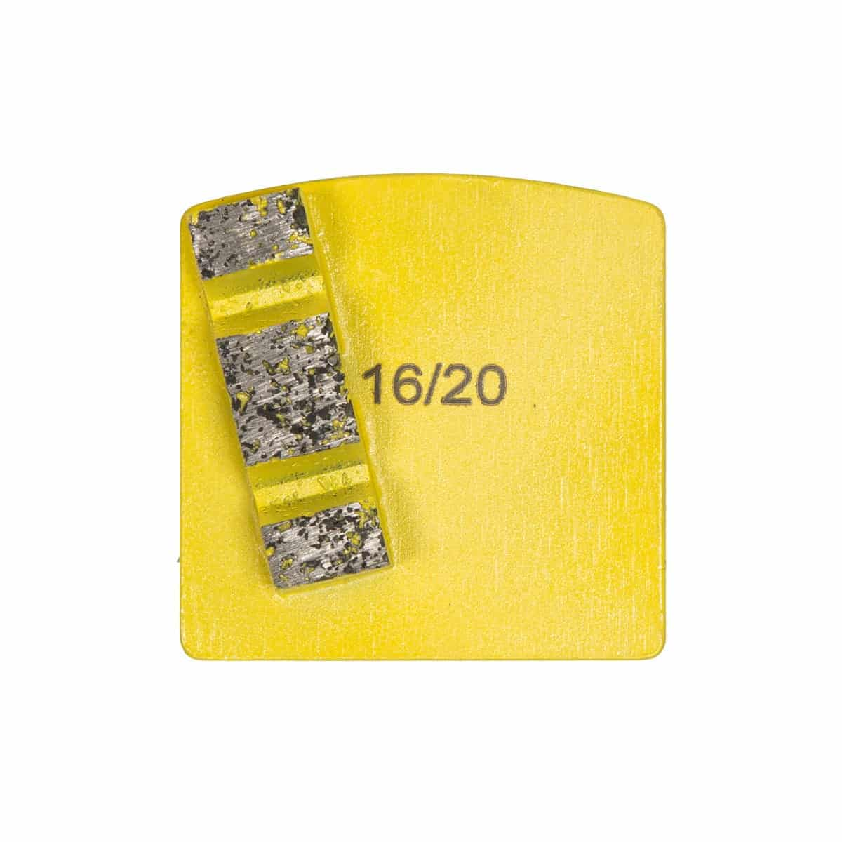 Scanmaskin World Series Diamond 8mm Single Yellow Super Soft Concrete Grinding Tool