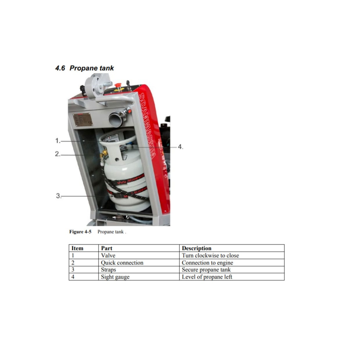 Back Scanmaskin Combiflex 650 PROPANE SC 650 Propane Turning Point Supply