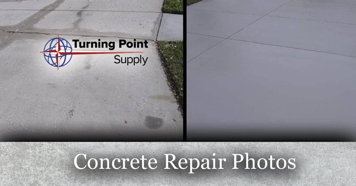 Concrete Repair Photos - Turning Point Supply - North Carolina