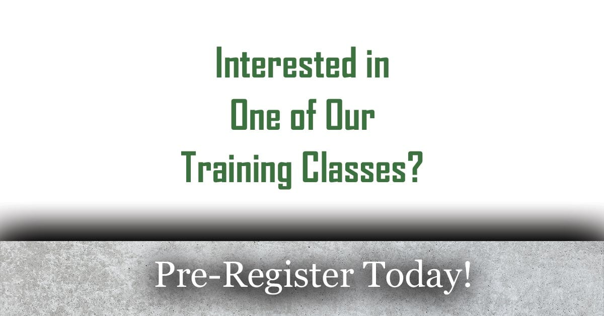 Concrete Training Classes RSVP Charlotte North Carolina 2020