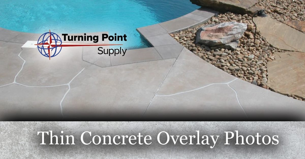 Thin Concrete Overlay Photos - Turning Point Supply - North Carolina