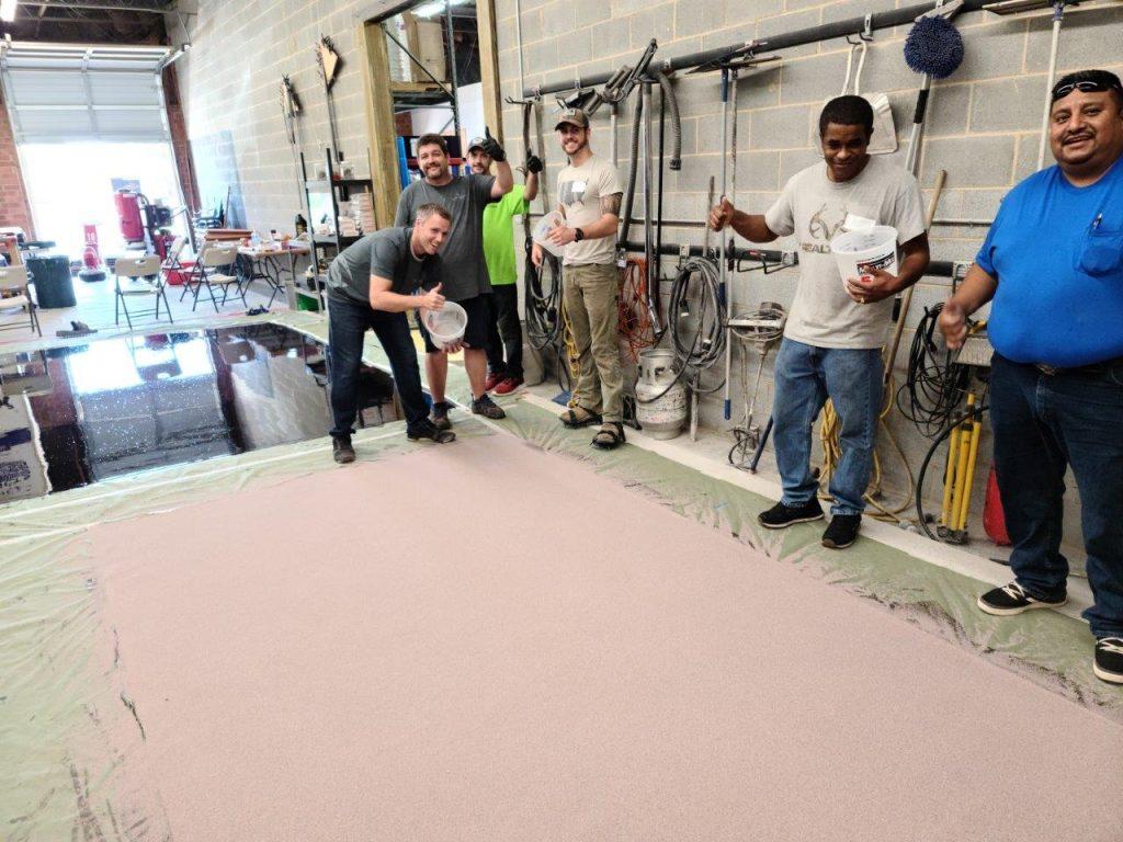 100% Epoxy Quarts Floor System