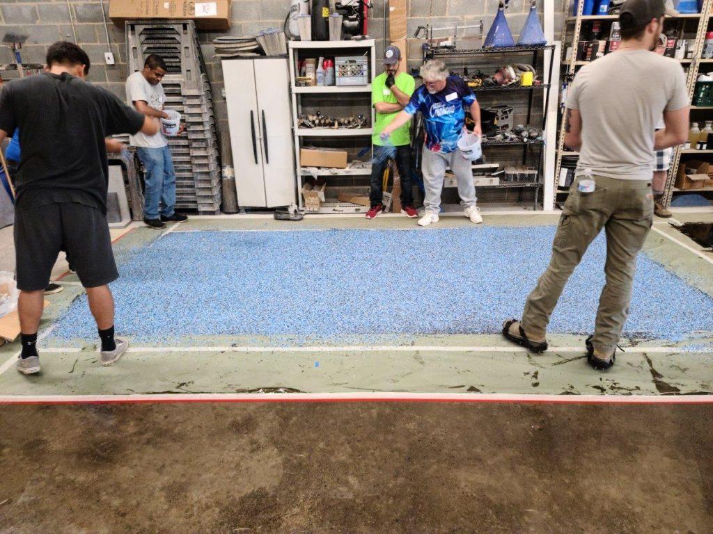 Epoxy Flake Flooring System Charlotte North Carolina Class