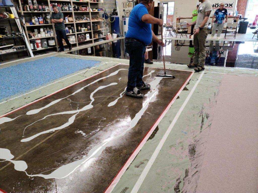 Solid Color Concrete Epoxy Floor Coating