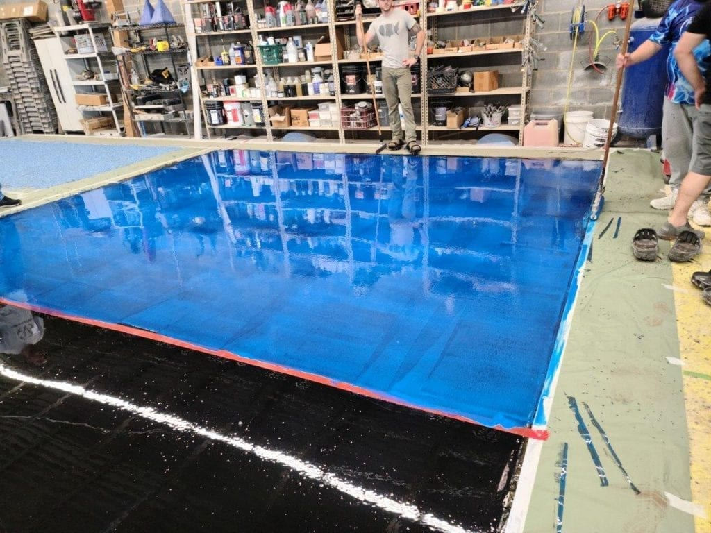 Blue Epoxy Metallic Floor Charlotte NC Epoxy Class June 2020