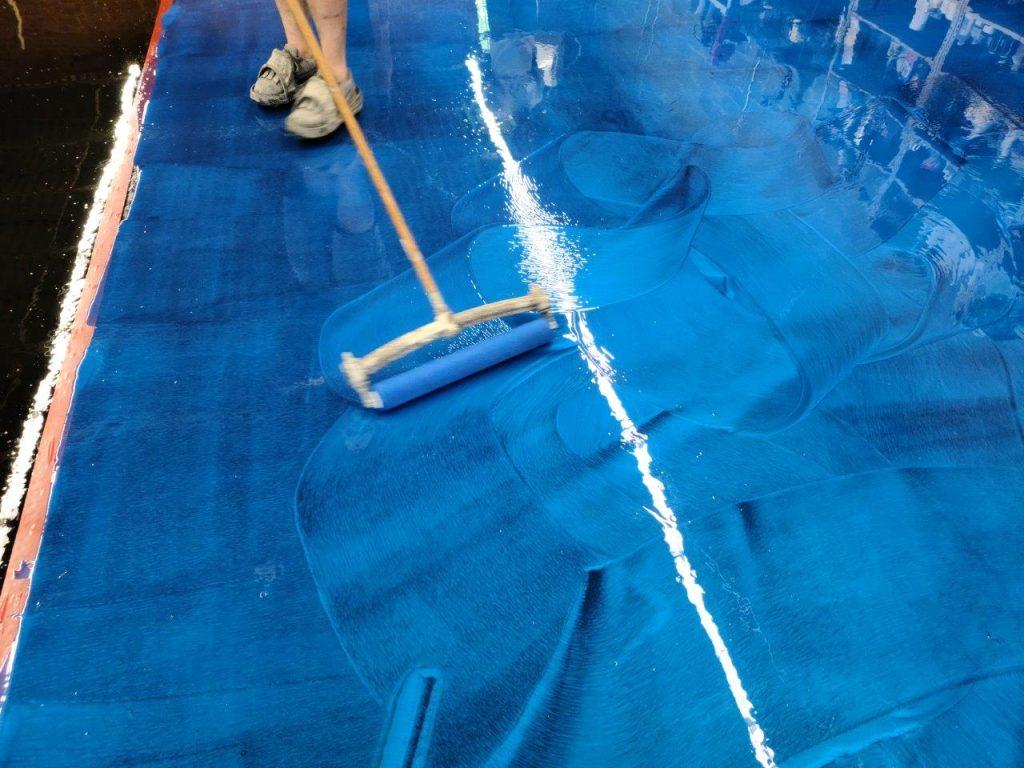 Making Designs Blue Epoxy Metallic Floor Charlotte NC Epoxy Class June 2020