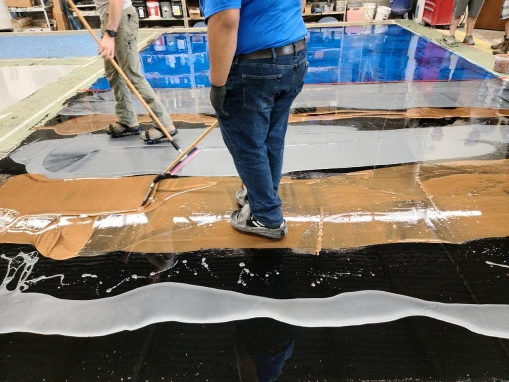 3 Color Epoxy Metallic Floor Coating System
