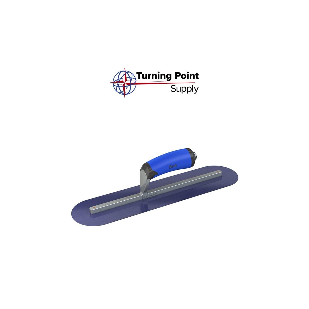 Righyt BLUE STEEL FINISHING TROWEL ROUND END 18 X 4 Bon Tools 62-584