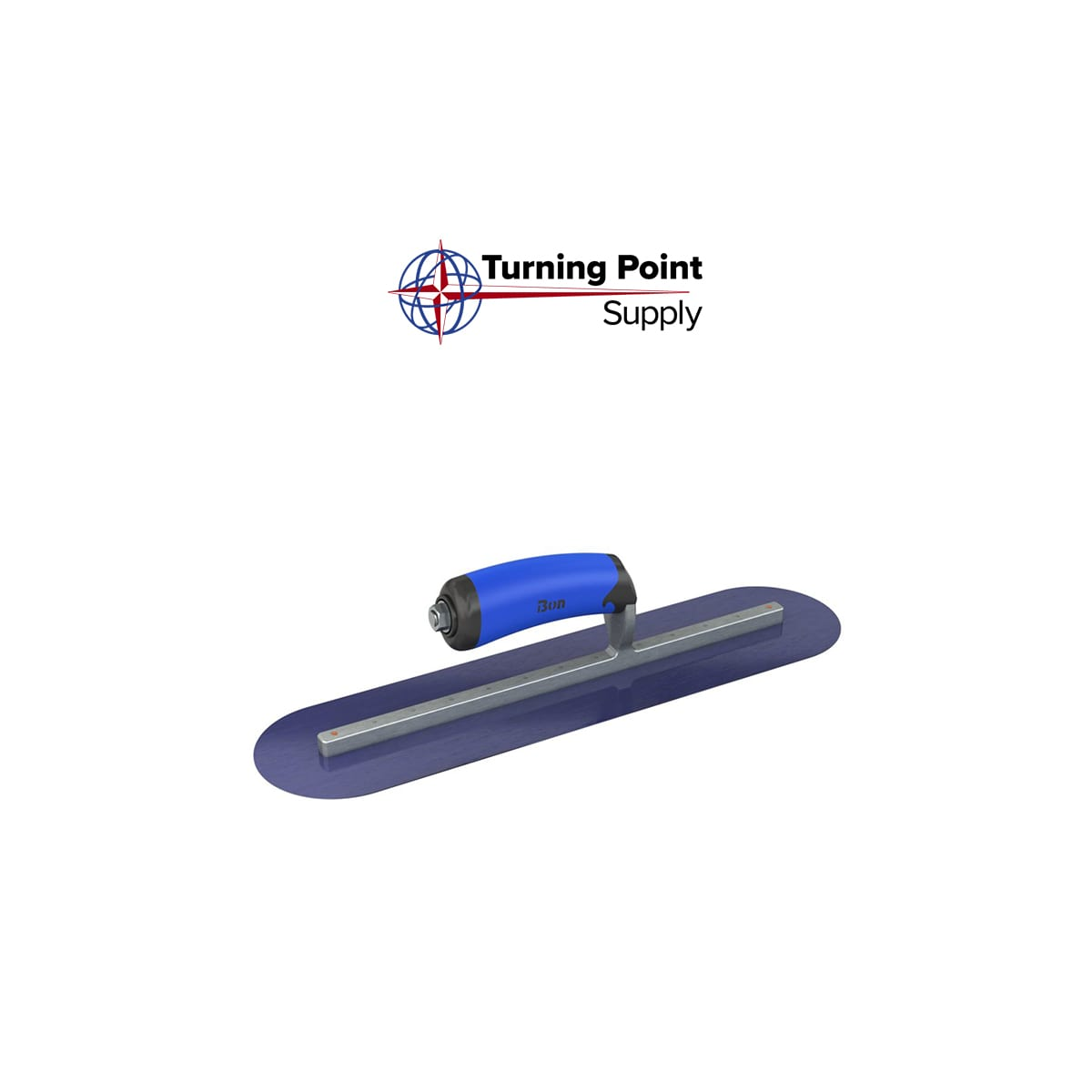 BLUE STEEL FINISHING TROWEL ROUND END 18 X 4 Bon Tools 62-584