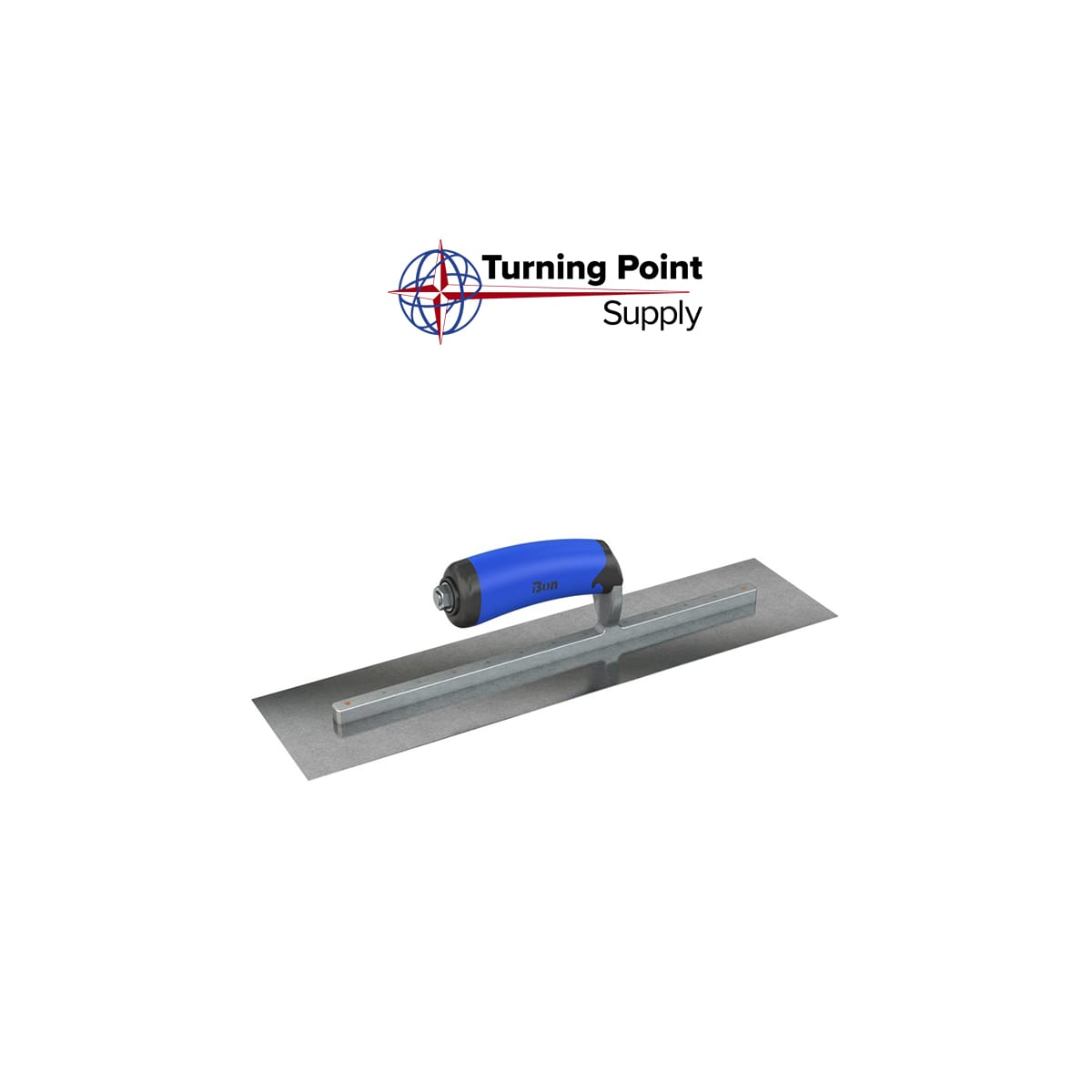 CARBON STEEL FINISHING TROWEL - SQUARE END - 20 X 5 - COMFORT WAVE HANDLE