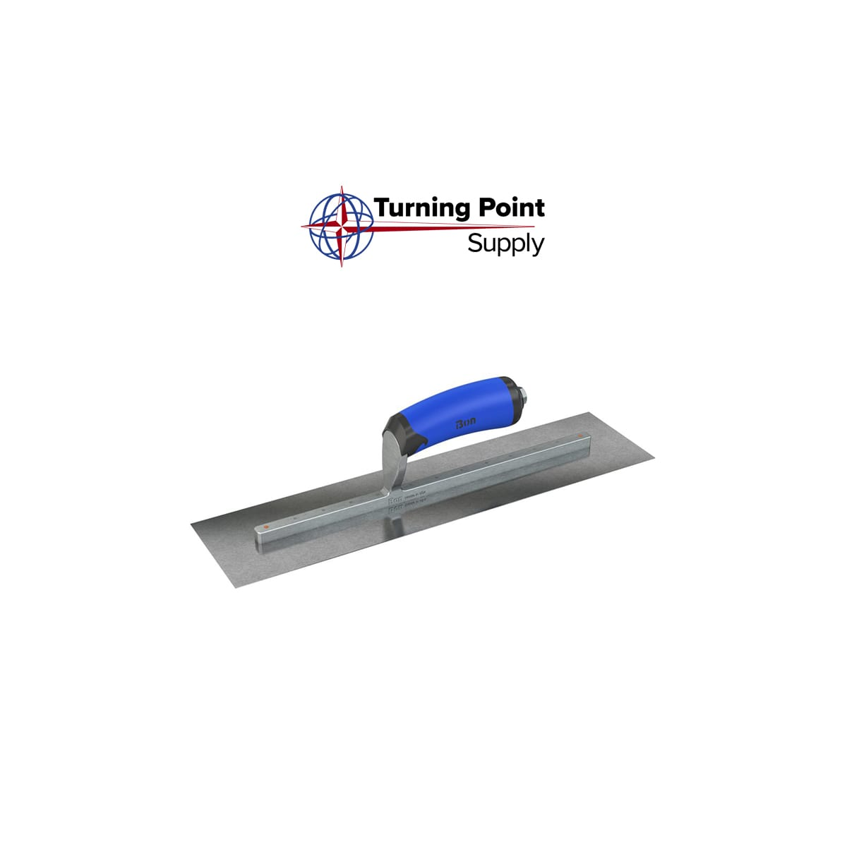 Right CARBON STEEL FINISHING TROWEL - SQUARE END - 20 X 5 - COMFORT WAVE HANDLE