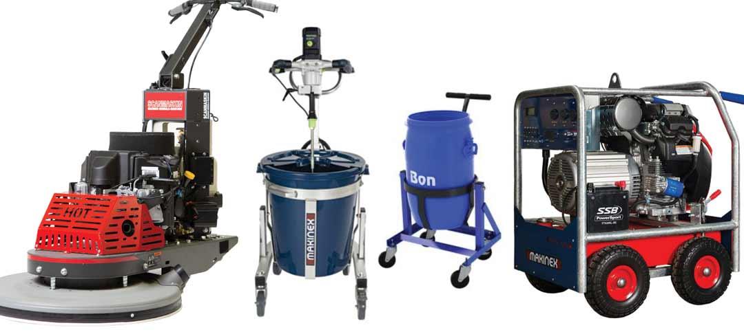 Concrete Equipment - Grinders, Polishers, Vacuums, Mixers