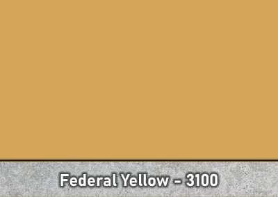 Federal Yellow 3100 Concrete Color Hardener by Brickform available at Turning Point Supply Charlotte and Raleigh North Carolina locations.