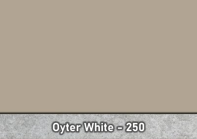 Oyter White 250 Concrete Color Hardener by Brickform available at Turning Point Supply Charlotte and Raleigh North Carolina locations.