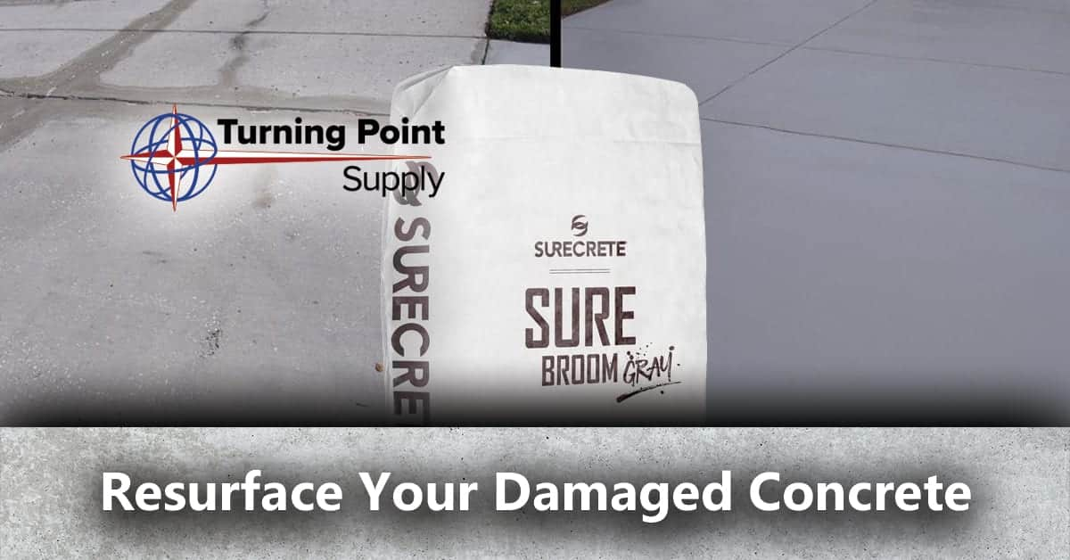 Resurface Your Damaged Concrete - Concrete Broom Overlay