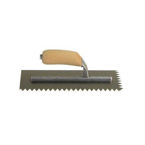 "4-1/2"" x 11"" x 1/2"" V-Notch Trowel Part # 7402 Midwest Rake® S550 Professional™ Charlotte and Raleigh North Carolina Charlotte and Raleigh locations."