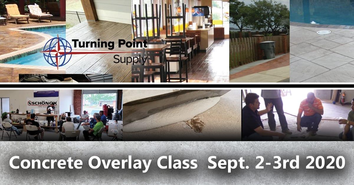 Concrete Overlay Class September 2nd & 3rd, 2020