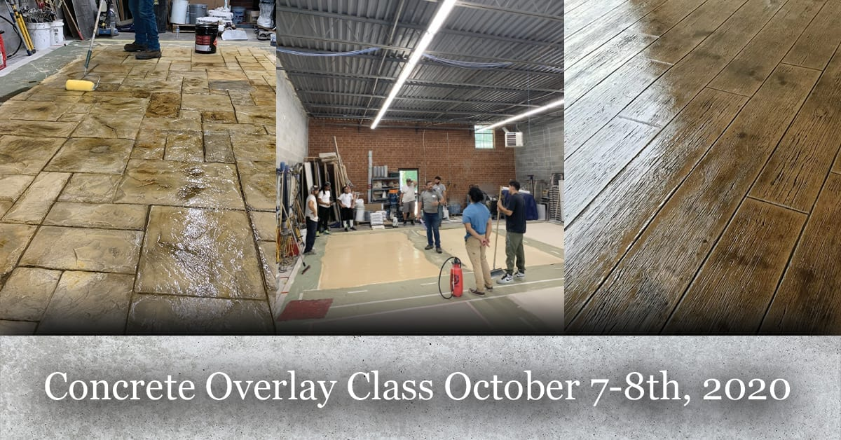 Concrete Overlay Class October 7-8th, 2020