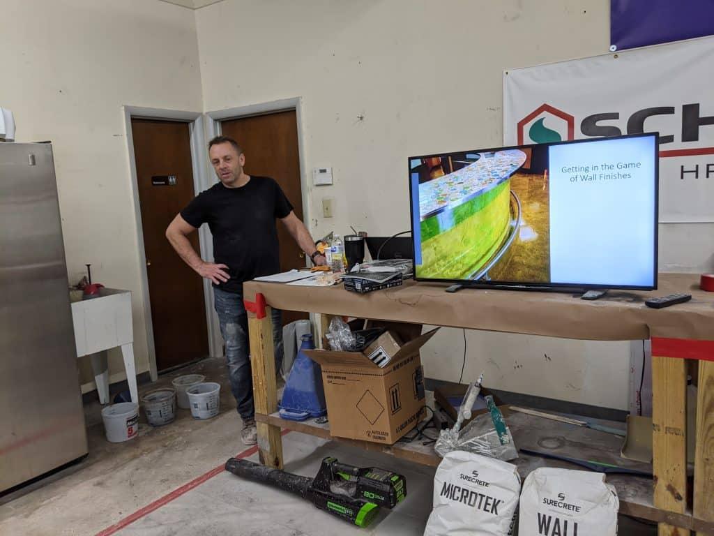 Chris Becker From SureCrete Concrete Wall Class