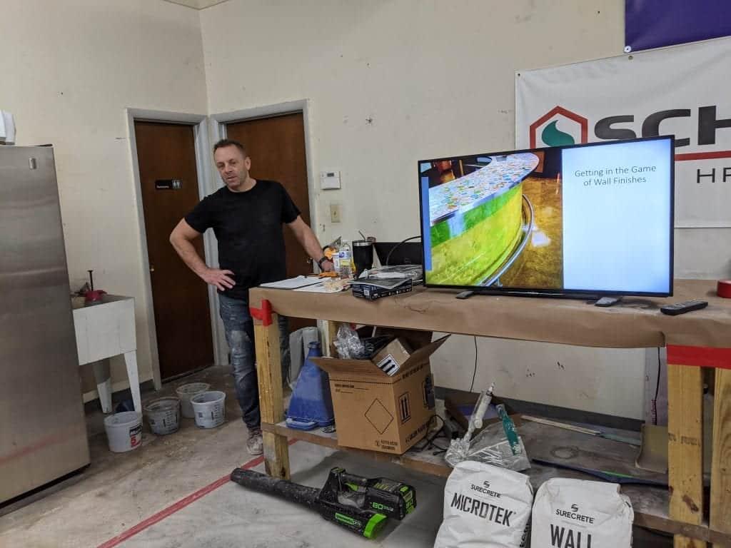 Concrete Wall Class Training by SureCrete Professionals