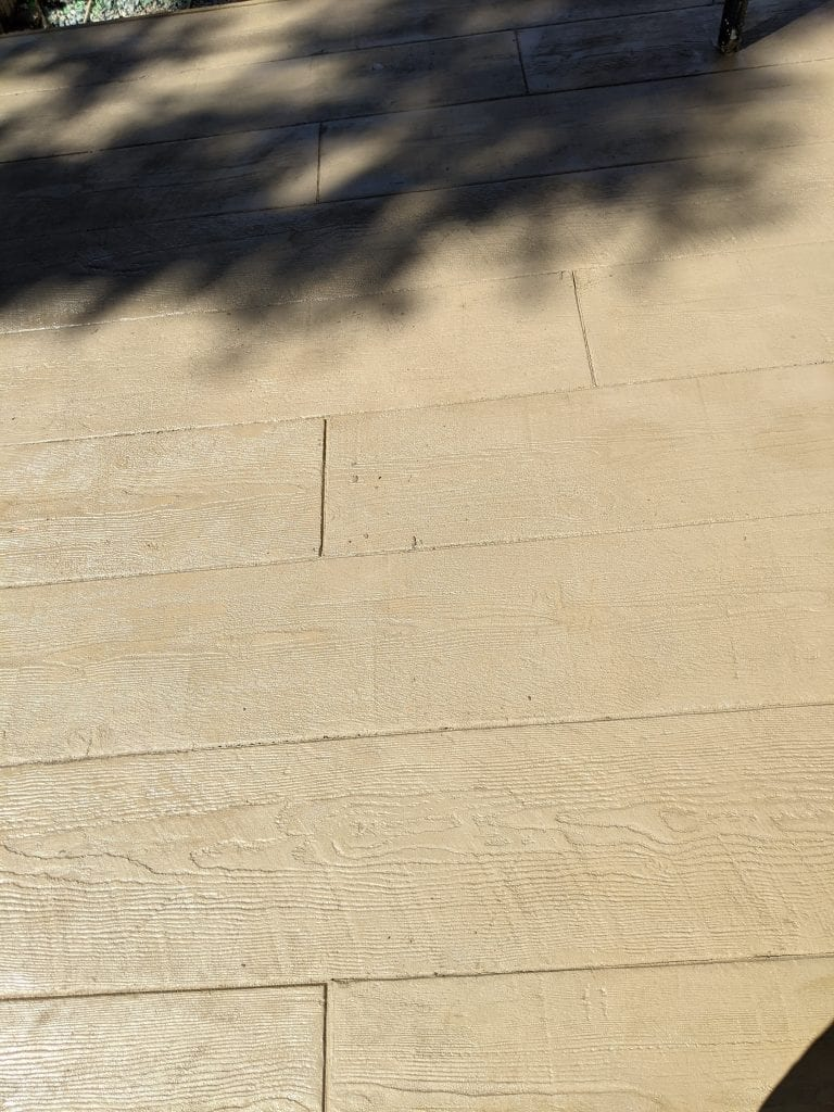 Wood Plank Stamped Concrete Brown Concrete Color Edge Huntley Brothers Company INC Mint Hill, NC