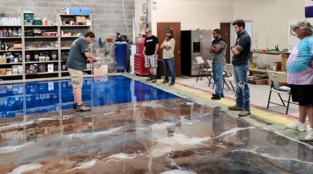 concrete floor training class
