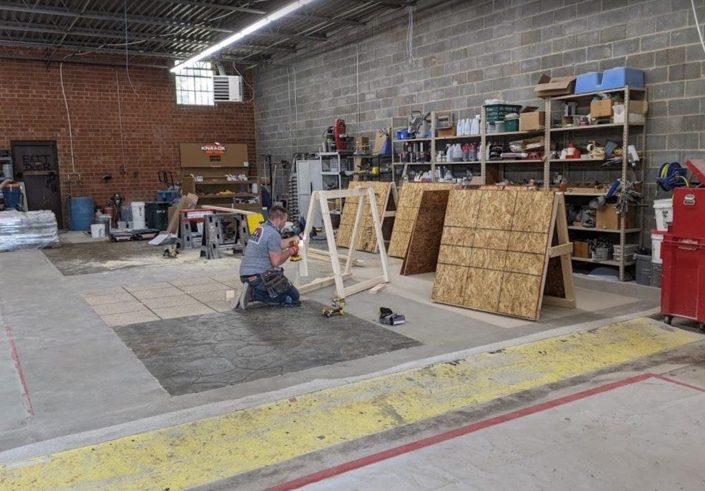concrete training room