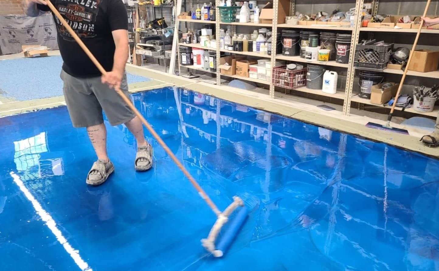 epoxy metallic floor training