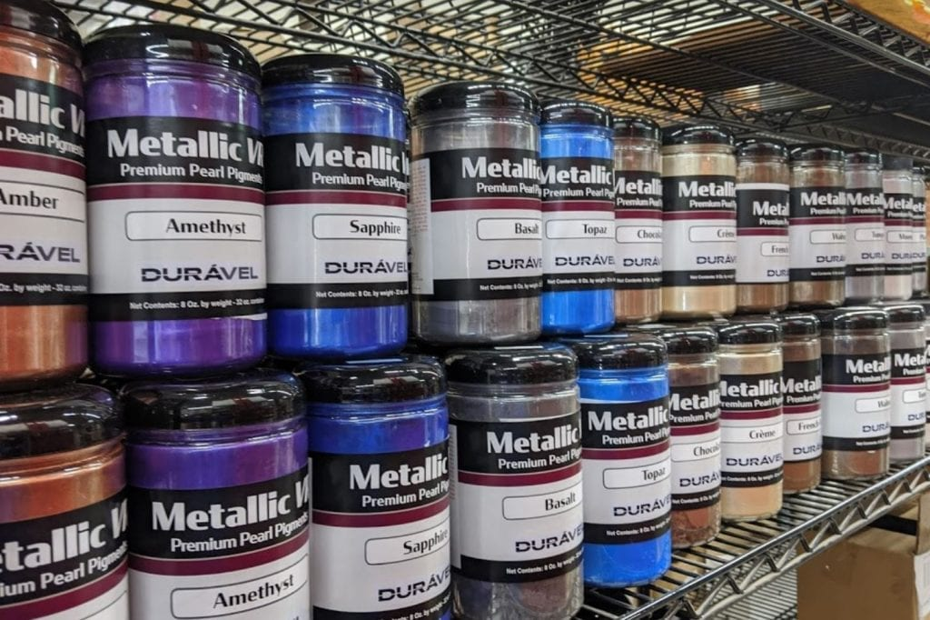 epoxy metallic pearl pigments for epoxy floor coatings