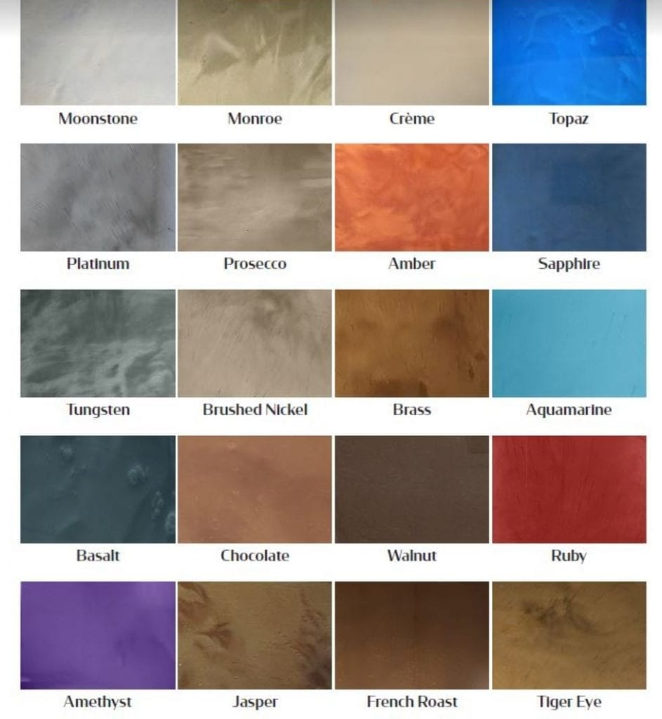 epoxy metallic products 20 colors