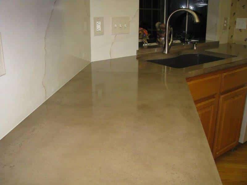 Concrete Countertop Close up