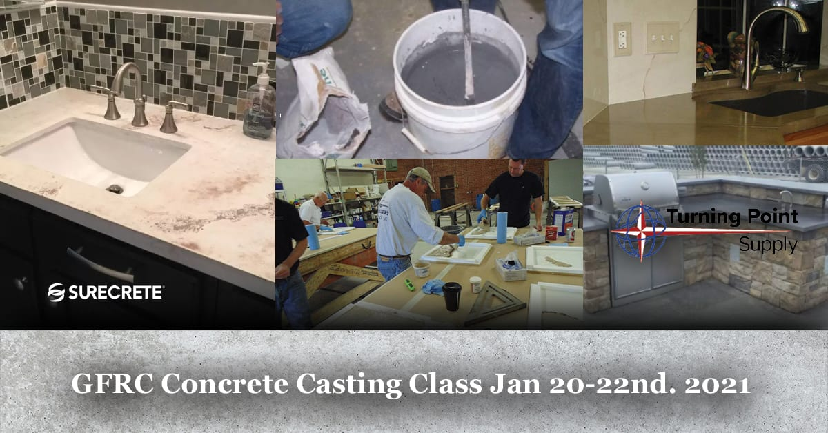 GFRC Concrete Casting Class Jan 20-22nd. 2021