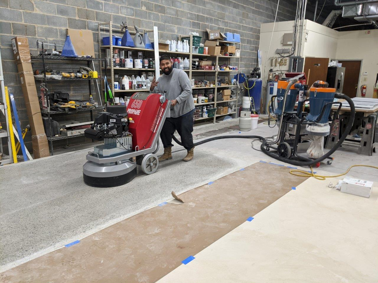 Polish Concrete Equipment Demo