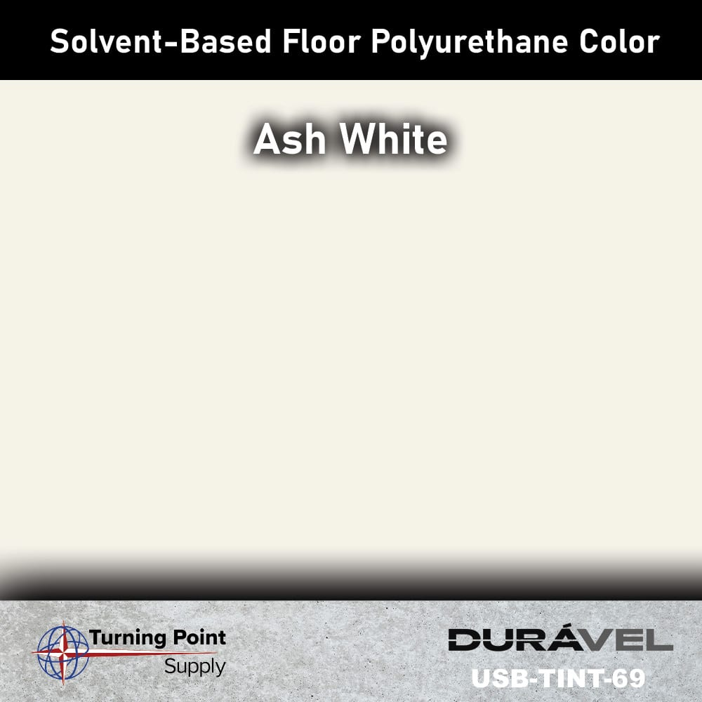 Ash White UV Stable Solvent-Based Floor Polyurethane Color Additive – USB-TINT by Duravel Products