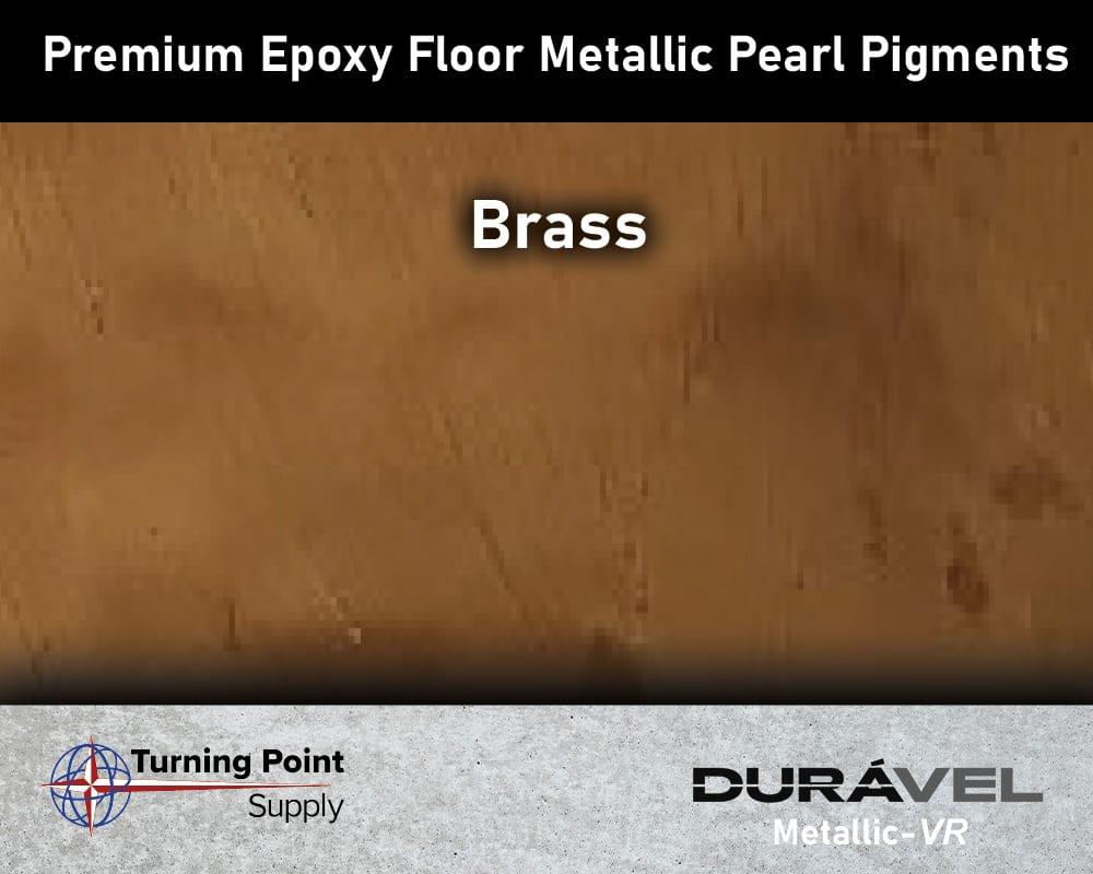 Brass Exclusive Epoxy Floor Metallic Mica Colors - Premium Pear Pigments 20 Options