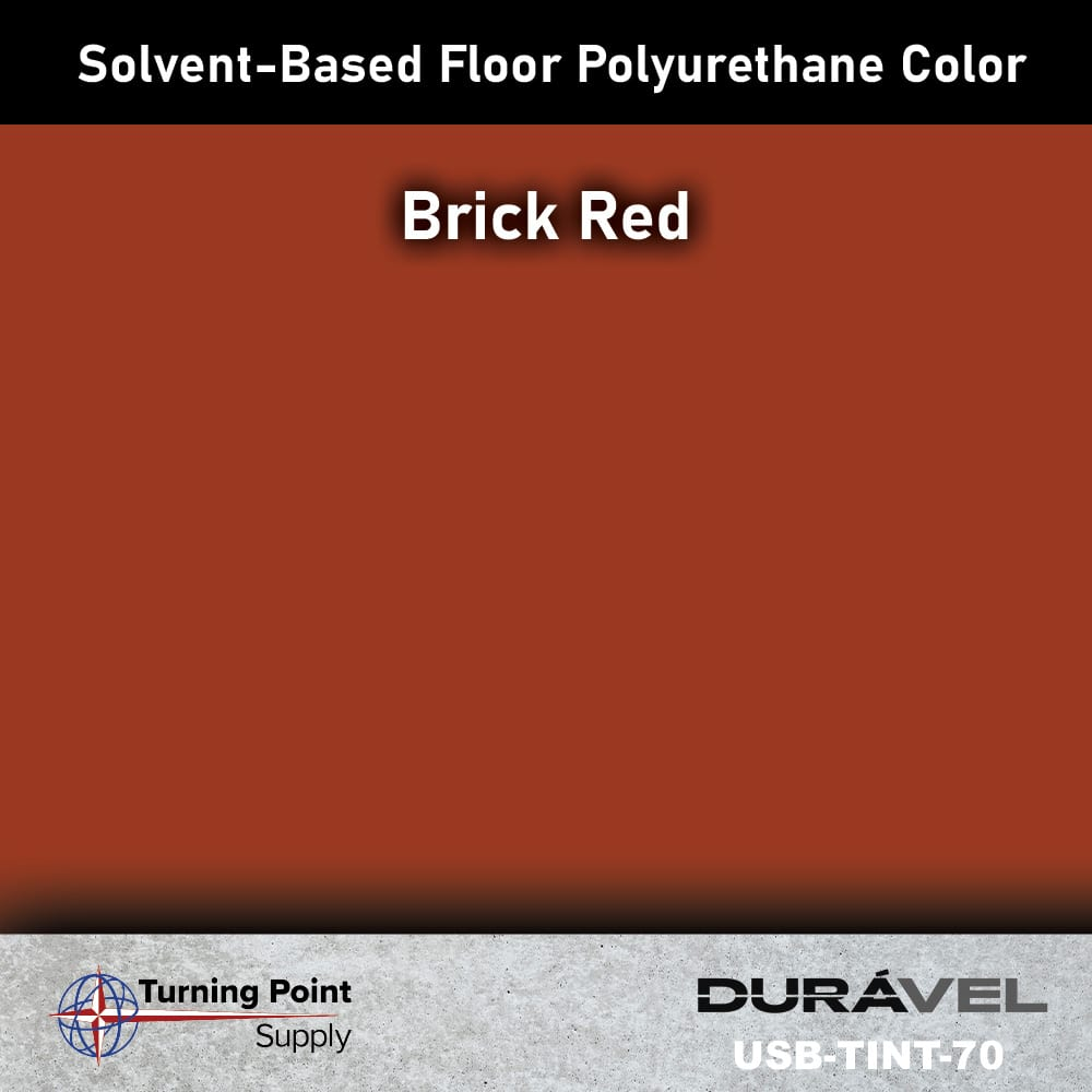 Brick Red UV Stable Solvent-Based Floor Polyurethane Color Additive – USB-TINT by Duravel Products