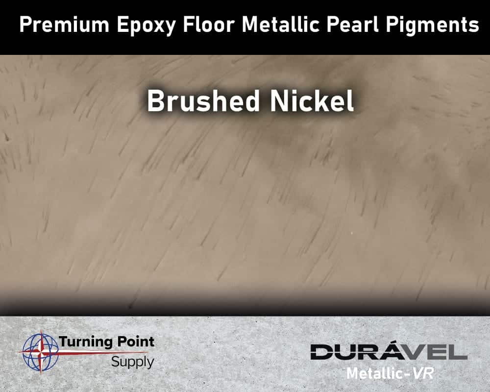 Brushed Nickel Exclusive Epoxy Floor Metallic Mica Colors - Premium Pear Pigments 20 Options